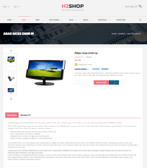 H2shop – full width product layout