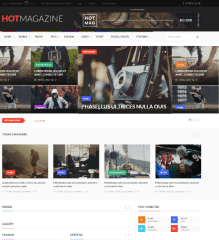 Hotmagazine – default header layout