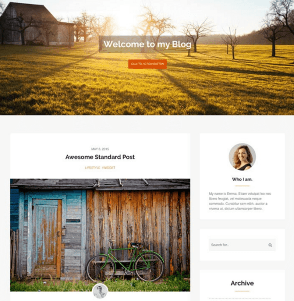 Morning Time – WP Theme for Personal Blogs.