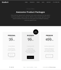 Studio 8 – Pricing page
