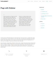The Agency – page with sidebar