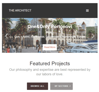 The Architect - WP Theme for Architectures and Designers.