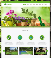 WS Garden – Boxed style homepage