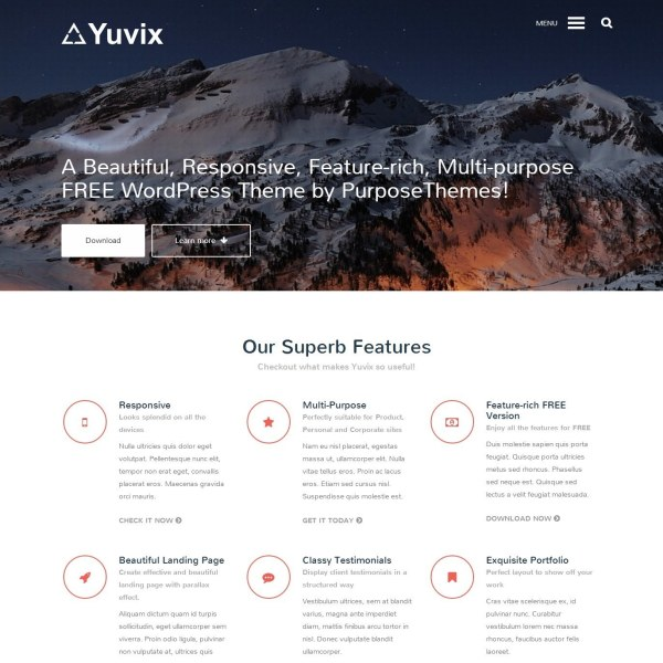 Yuvix Multipurpose Free WordPress Theme