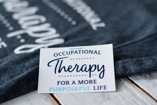 Royal Blue. Sky Blue and White Occupational Therapy Sticker made by Purpose Therapy Box