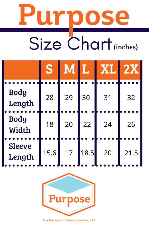Purpose Therapy Box Sizing Chart S-XXL