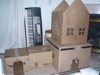 Diy Cat Cardboard Playhouse - Diy (Do It Your Self)
