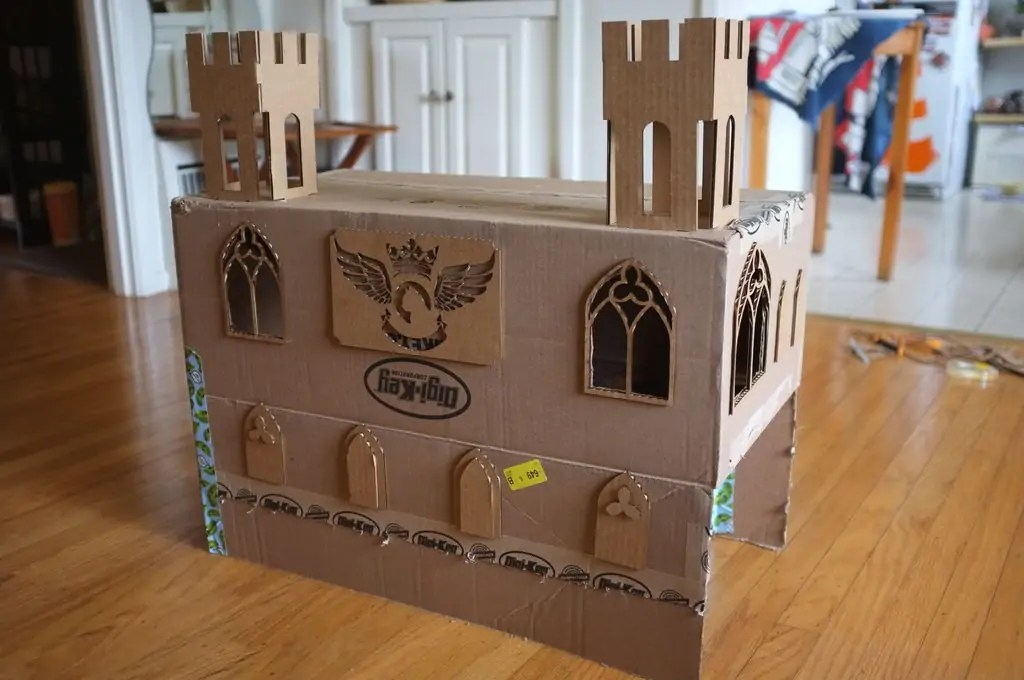 diy cardboard box homes