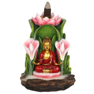 Colourful Buddha Backflow Incense Burner