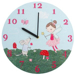 Fleur the Fairy & Marvin the Mouse Wall Clock