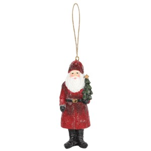Father Christmas with Tree Ornament