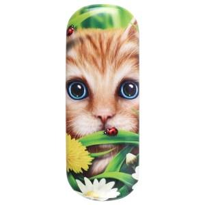 Summer Cat Glasses Case by Linda Jones
