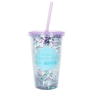 Of Course I Drink Like a Fish...Sequin Drinking Cup