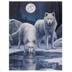 19x25cm Winter Warrior Canvas Plaque by Lisa Parker