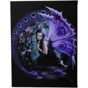 19x25cm Naiad Canvas Plaque by Anne Stokes