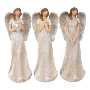 Trio of Small Glitter Angels