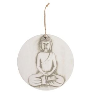 Large Round Terracotta Buddha Plaque