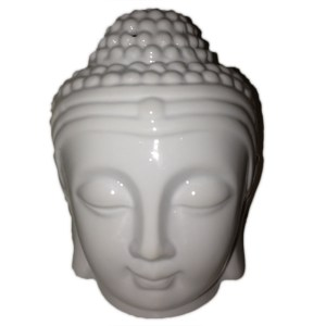 Buddah Head Oil Burner - White