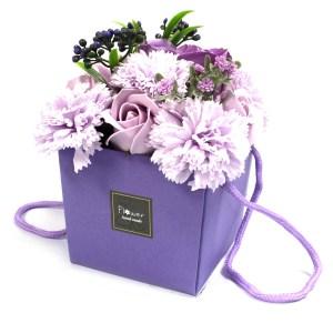 Soap Flower Bouquet - Lavender Rose & Carnation