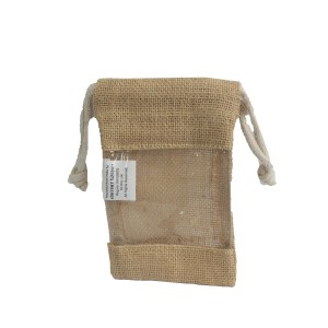 Small - Jute Window Bag 16x10cm