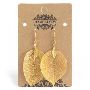 Earrings - Bravery Leaf - Gold