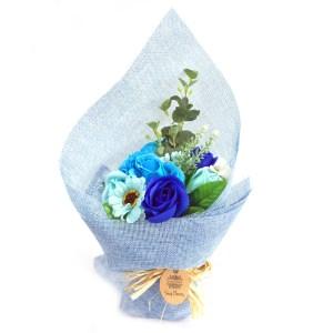 Standing Soap Flower Bouquet - Blue