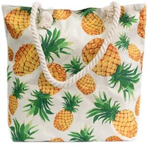 Rope Handle Bag - Pineapples