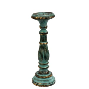 Medium Candle Stand - Turquois Gold
