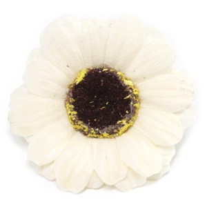 Craft Soap Flowers - Sml Sunflower - Ivory