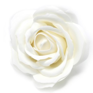 Craft Soap Flowers - Lrg Rose - White