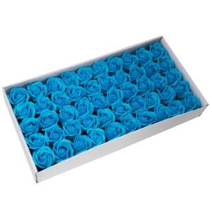 Craft Soap Flowers - Med Rose - Sky Blue