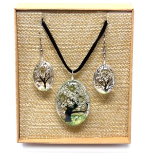 Pressed Flowers - Tree of Life set - White