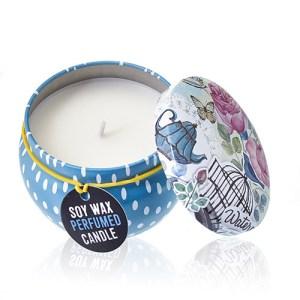 Art Tin Candle - Assorted Design - Parisian Weekend - Peonies