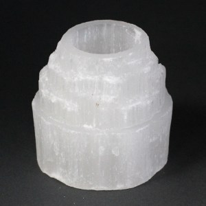 Selenite Mountain Top Candle Holder - 8 cm