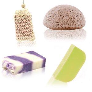 Soap, Solid Shampoo & Sponge Set