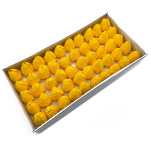 Craft Soap Flower - Med Tulip - Yellow