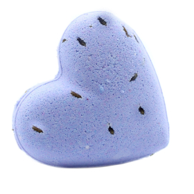 Love Heart Bath Bomb 70g - French Lavender