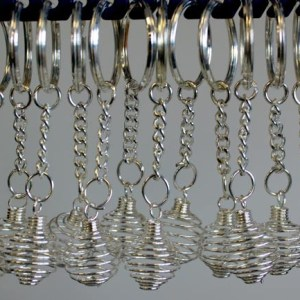 Spiral Cage Key-rings ( pack of 12)