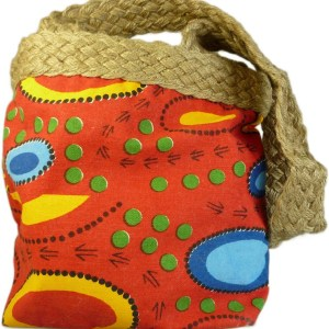 Aboriginal Art Bags - Red & Blue