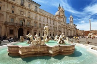 Piazza Navona in Rome in Italy. Photo taken on: June 06th, 2012