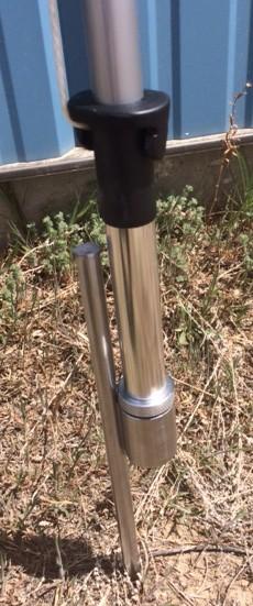 Ground Spike with ball bearing pivot