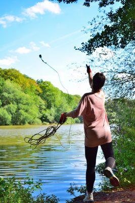 Magnet Fishing in A Lake