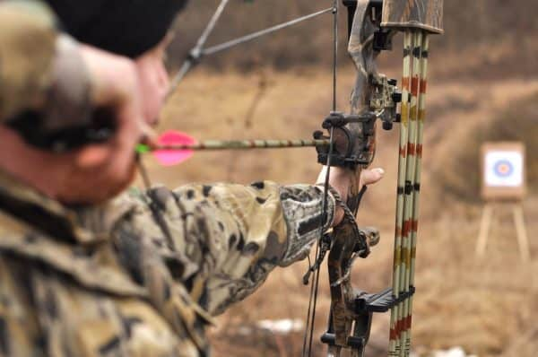 Pulling Back Compound Bows