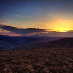 Sunset over the Yorkshire Dales during the 52nd Fellsman
