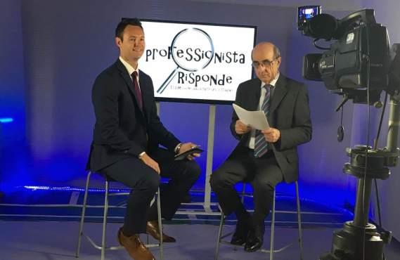 alberto and adam filiming TV segment