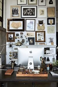 home office gallery wall | Pursuit of Daydreams