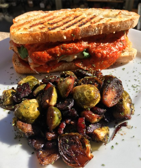 Chicken Parmesan with Bacon & Red Onion Brussel Sprouts