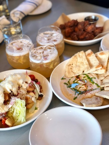 Wedge Salad, Chicken Gobbets, and Duck Fat Hummus