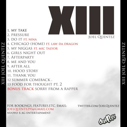 Joel Quentez XIII Tracklist