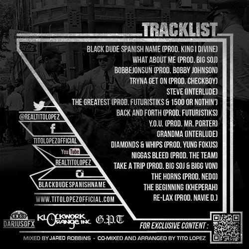 Tito Lopez Y.O.U. Tracklist